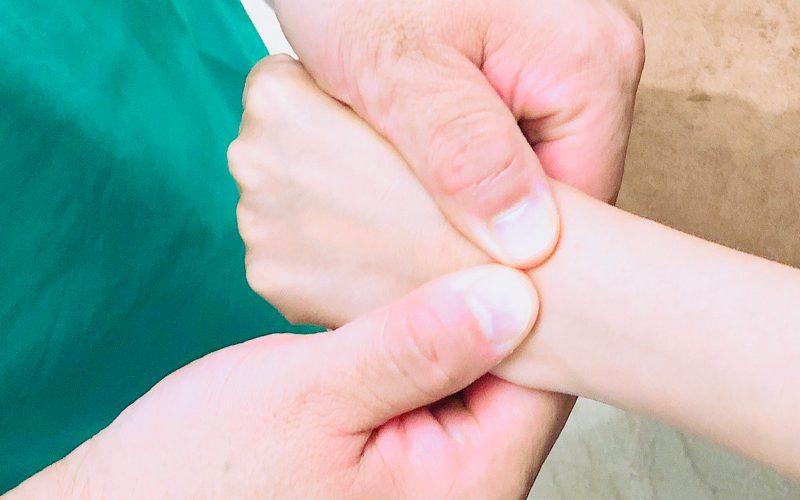 腱鞘炎に対する整体術